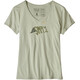Patagonia W's Live Simply Sleeping Out Organic V-Neck T-Shirt Desert Sage